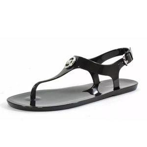 Michael Kors plastic MK logo sandals